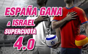 Supercuota Wanabet España gana Israel