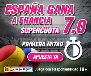 Supercuota Wanabet España gana a Francia primera mitad