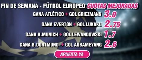 Wanabet futbol europeo Sabado