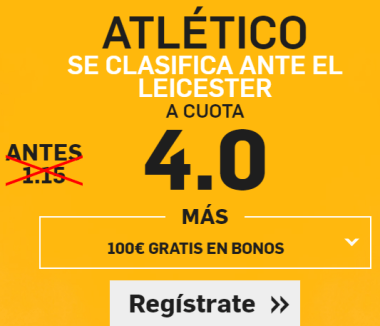 Supercuota Betfair Atletico gana