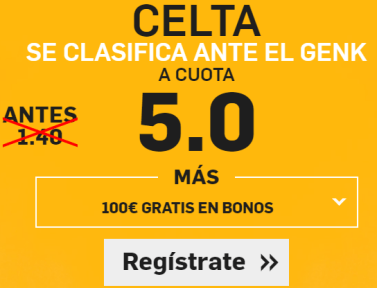 Supercuota Betfair Celta gana