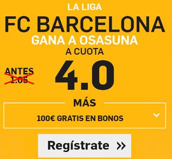 Supercuota Betfair la liga Barcelona