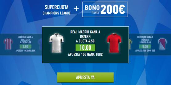 Supercuota Sportium Real Madrid Bayern