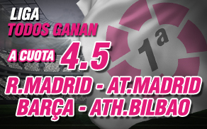 Wanabet La Liga Todos ganan cuota 4.5