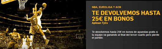 Betfair Euroliga devolución hasta 25€