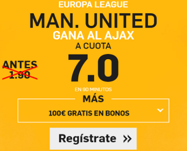 Supercuota Betfair Europa League Man United Ajax