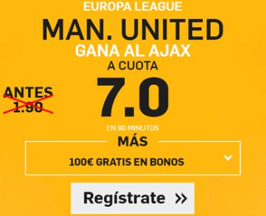 Supercuota Betfair Europa League Man United Ajax