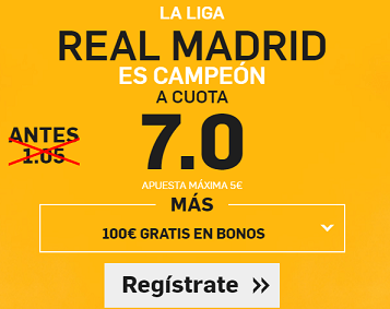 Supercuota Betfair Real Madrid campeon cuota 7