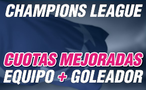 Wanabet Champions Leage Cuotas mejoradas equipo + goleador