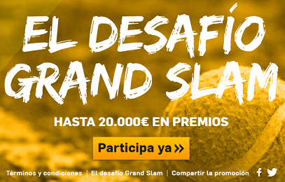 Betfair desafio grand slam hasta 20.000€ en premios