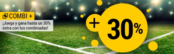 Bwin combi+ 30% extra en combinadas futbol