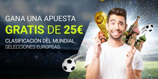 Luckia apuesta gratis 25€ clasificación mundial