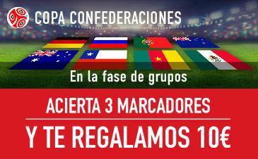 Sportium Copa Confederaciones Acierta 3 Marcadores y gana 10€