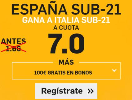 Supercuota Betfair España Italia