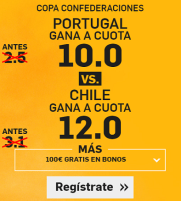 Supercuota Betfair Portugal vs Chile