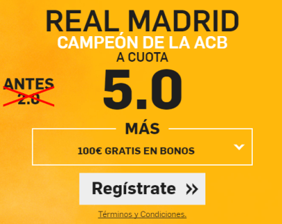 Supercuota Betfair Real Madrid Campeon ABC