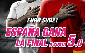 Supercuota Euro sub21 España gana la final a cuota 5