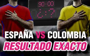 Wanabet resultado exacto España vs Colombia