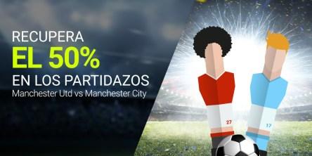 Luckia recupera el 50% en Manchester Utd vs Manchester City