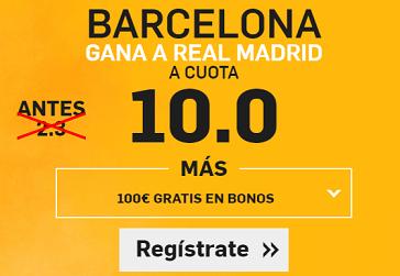 Supercuota Betfair Barcelona gana a Real Madrid