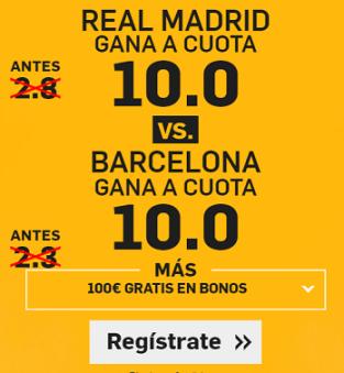 Supercuota Betfair Real Madrid vs Barcelona