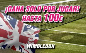 Wanabet gana solo por jugar hasta 100€ Wimbledon
