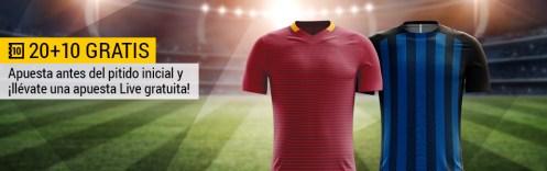 Bwin Roma - Inter apuesta pre partido y consigue una apuesta live gratis