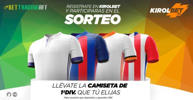 Kirolbet Sorteo Camiseta nuevos usuarios