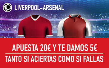 Sportium Liverpool Arsenal Apuesta 20€ y te damos 5€