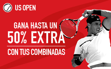 Sportium US Open 50% extra en combinadas