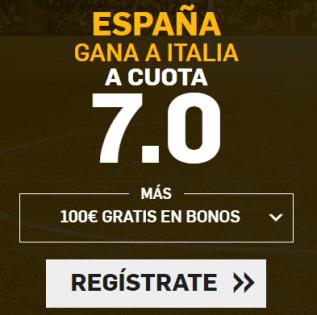 Supercuota Betfair España gana a Italia