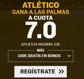 Supercuotas Betfair la liga Atlético gana a las Palmas