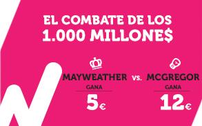 Wanabet Mayweather gana a cuota 5 vs McGregor gana a cuota 12