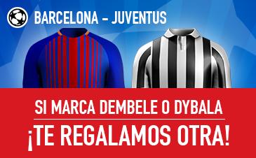 Sportium Barcelona Juventus si marcan Demebele o Dybala Devolución