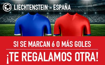 Sportium España Liechtenstein si marcan 6 goles o más te damos otra!