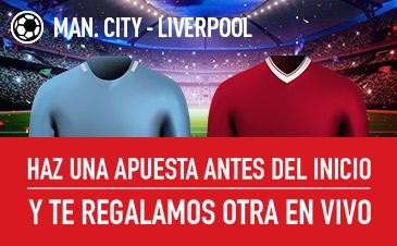 Sportium Premier League Man City - Liverpool, apuesta pre partido y te damos otra en vivo