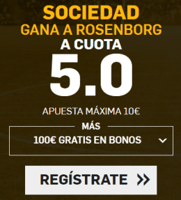 Supercuota Betfair Europa League Sociedad vs Rosenborg