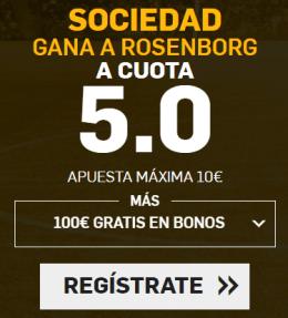 Supercuota Betfair Europa League Sociedad vs Rosenborg
