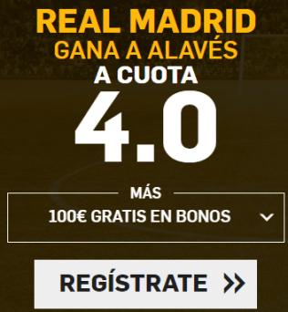 Supercuota Betfair - Real Madrid gana a Alavés