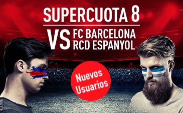 Supercuota Sportium FC Barcelona vs RCD Espanyol cuota 8