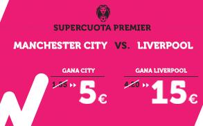 Supercuota Wanabet Premier Manchester City vs Liverpool
