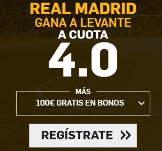 Supercuotas Betfair Real Madrid Levante