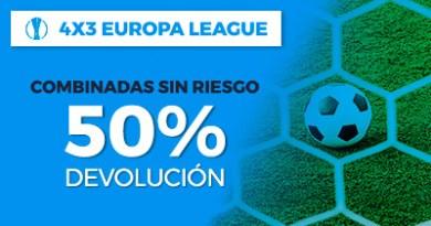 Paston Europa League Combinadas sin riesgo 50% devolucion