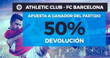 Paston la liga Athletic - fc barcelona 50% devolución