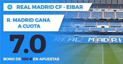 Supercuota Paston la liga - Real Madrid Eibar