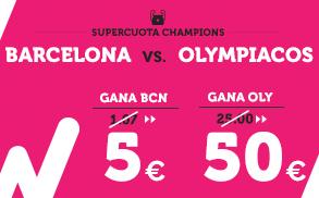 Supercuota Wanabet Champions Barcelona vs Olympiacos