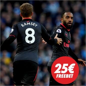 Circus Arsenal - Tottenham 25€ freebet!