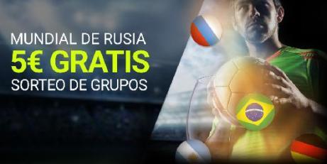 Luckia 5€ en Mundial de Rusia sorteo de Grupos