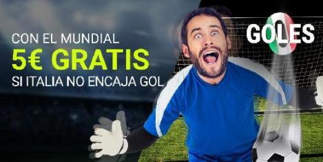 Luckia Mundial Futbol - 5€ gratis si Italia no marca gol