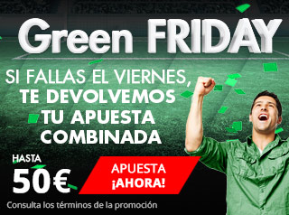 Suertia Green Friday Devolución combinadas la Liga hasta 50€
